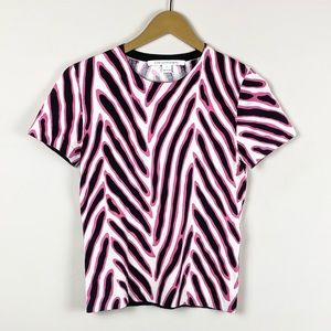 Diane Von Furstenburg Zebra Print Short Sleeve Tee